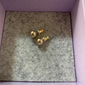 2/15 Gold tone ball earrings